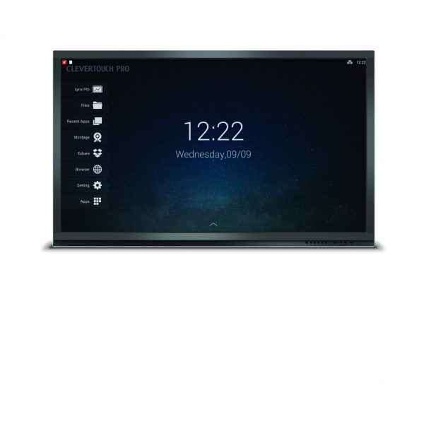 Clevertouch Pro home screen