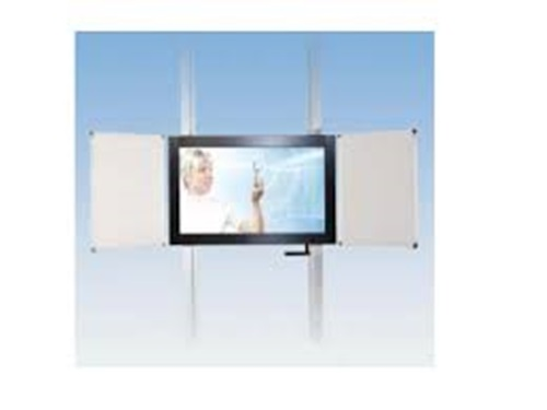 CTOUCH Wall Riser, Twin Columns, 750mm Stroke, 46″ to 70″ Displays