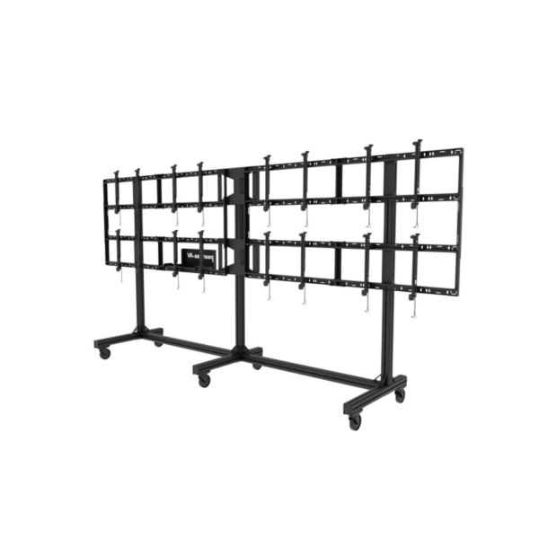 Peerless Portable Video Wall Cart 2X2, 3X2 Or 4X2 Configuration
