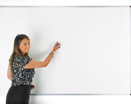 Non Magnetic whiteboard 2100 x 1200 Aluminium Frame
