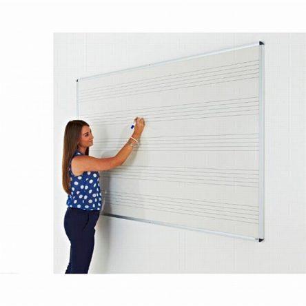 Music Ruled Magnetic whiteboard  1200 x 1200 Aluminium Frame