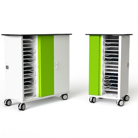 Zioxi CHRGT-TB-32-C iPad Security Trolley, Store / Charge and Sync,32 Bay (Code Lock