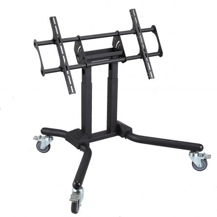 Mobile interactive display trolley  for 50″ 120″ Screens &  120KG (Height Adjust) Small